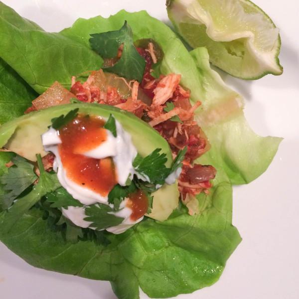 Crockpot Chicken Taco Lettuce Wraps – AKA Easiest Recipe EVER!