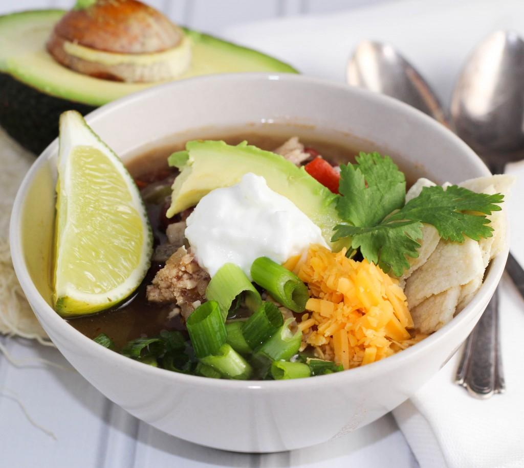 Chicken Tortilla Soup platingsandpairings.com