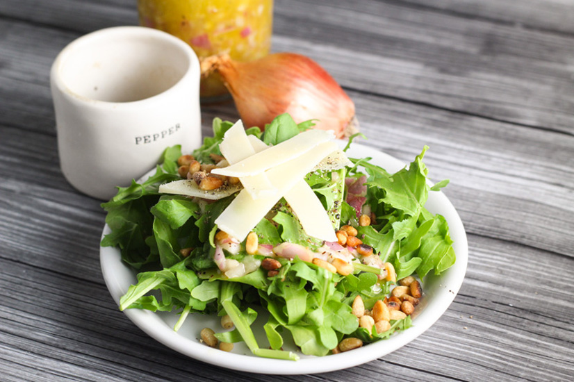 The Perfect Green Arugula Salad www.platingsandpairings.com