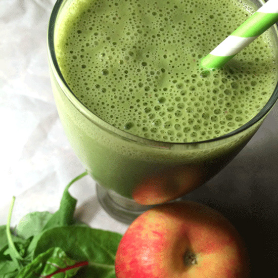 This Green Goodness Smoothie features Kale, Almond Milk and Apples, and is the perfect, healthy way to start your day.  platingsandpairings.com