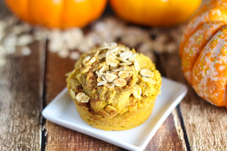 Healthy Pumpkin Oat Muffins-3