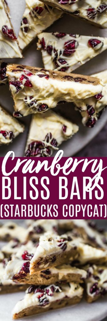Cranberry Bliss Bars are a Starbucks copycat recipe of your favorite holiday treat.