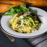 Half and Half Linguini with Herbs and Fresh Capers platingsandpairings.com