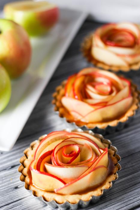 Salted Caramel Apple Tarts platingsandpairings.com
