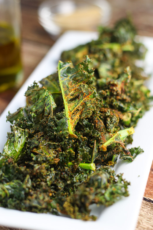 "Nacho ""Cheese"" Kale Chips platingsandpairings.com"