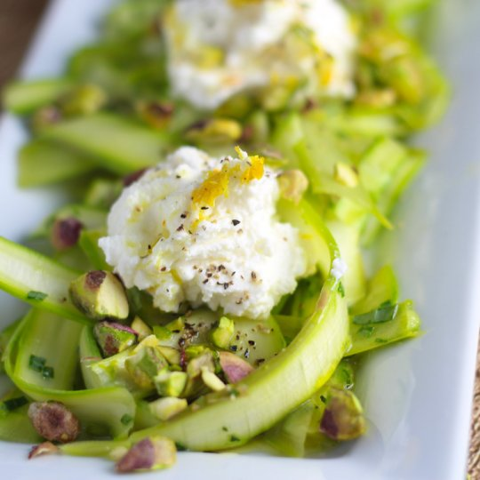 Shaved Asparagus Salad platingsandpairings.com