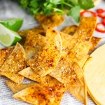 Baked Tortilla Chips platingsandpairings.com