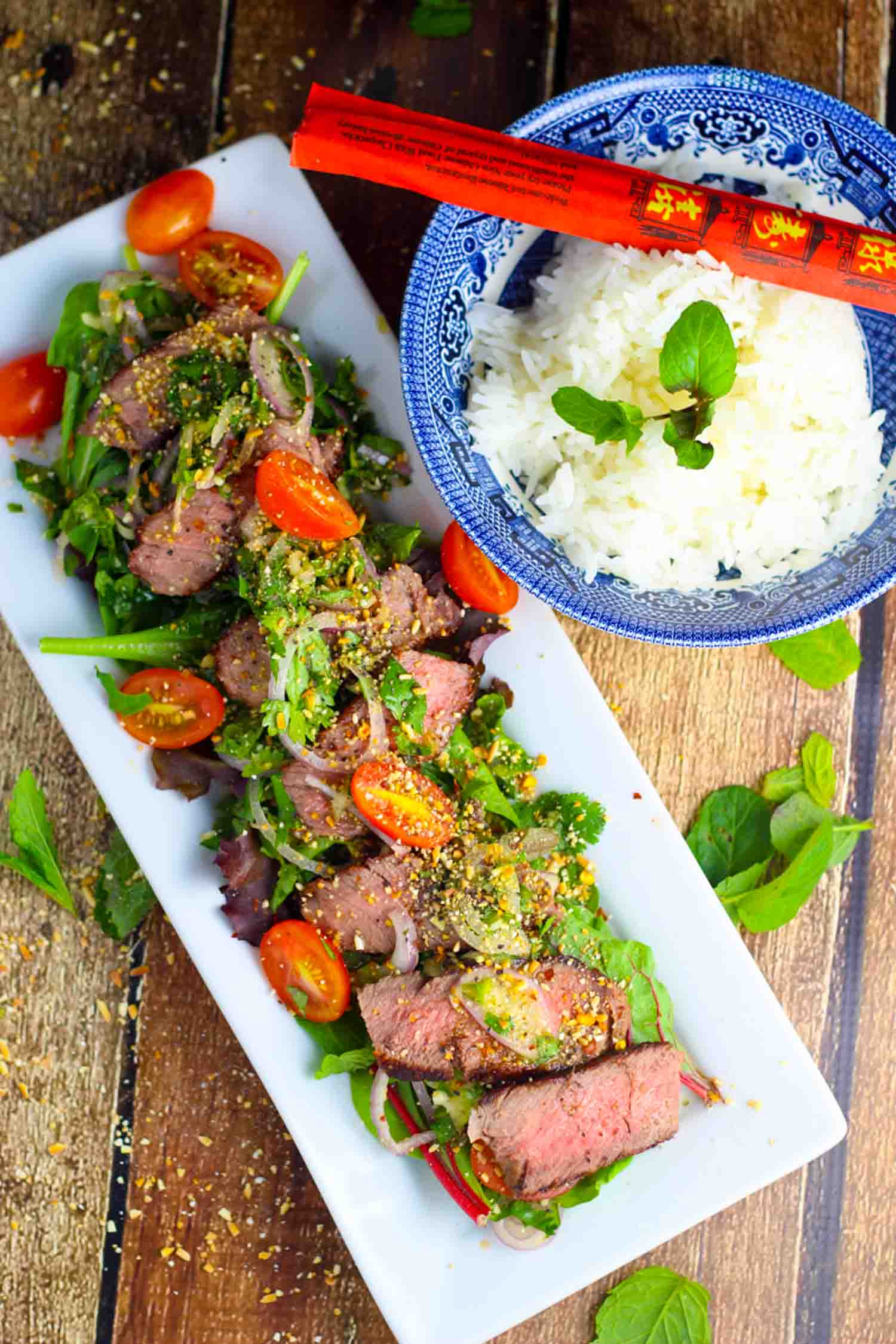 This Thai Beef Salad is tangy, spicy and refreshing. Top it with ...