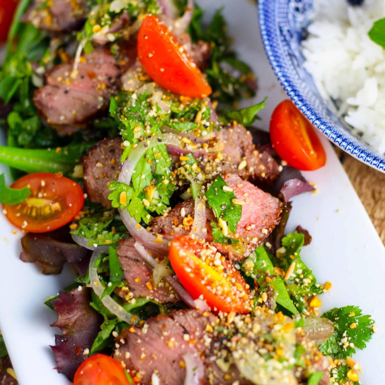 Thai Beef Salad platingsandpairings.com