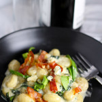 Gnocchi with Blue Cheese and Frizzled Prosciutto | platingsandpairings.com