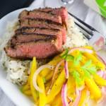 Seared Flank Steak with Mango Slaw | platingsandpairings.com-9