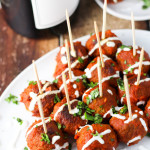Turkey Meatballs in Chipotle Sauce platingsandpairings.com