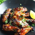 Vietnamese Chicken Wings - Baked, not fried and full of flavor! platingsandpairings.com