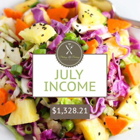 July 2015 Blogging Income Report - How I make money blogging| platingsandpairings.com