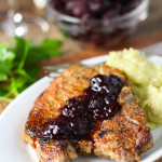 Pork Chops with Cherry Sauce | platingsandpairings.com