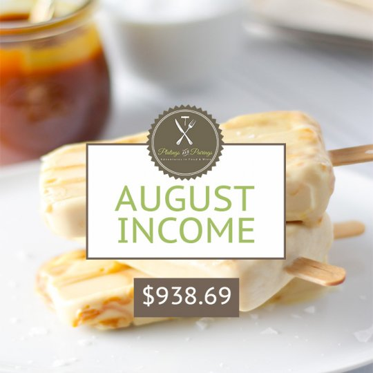 August 2015 Blogging Income Report - How I make money blogging| platingsandpairings.com