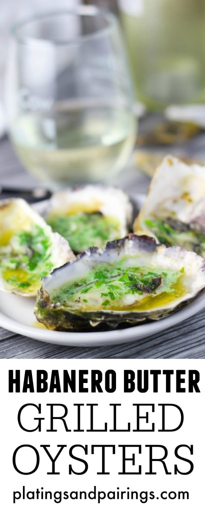 Grilled Oysters with Habanero Butter make a great tailgating snack or ...