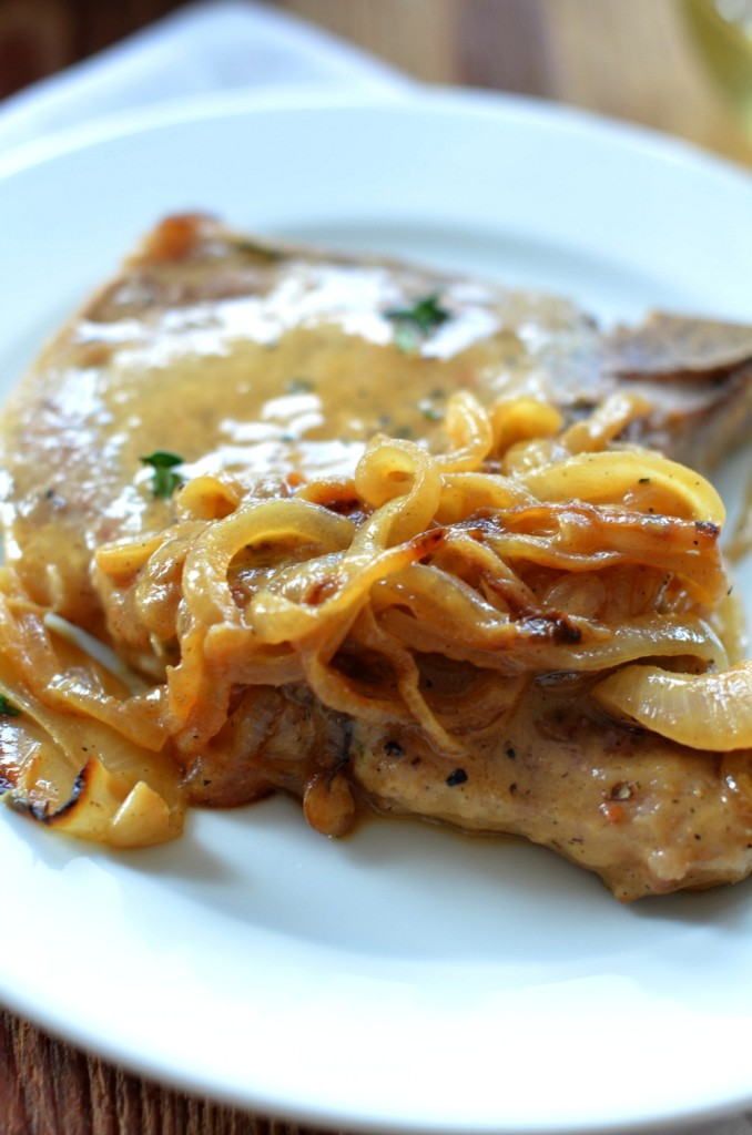 Pork Chops with Dijon-White Wine Sauce | Platings & Pairings