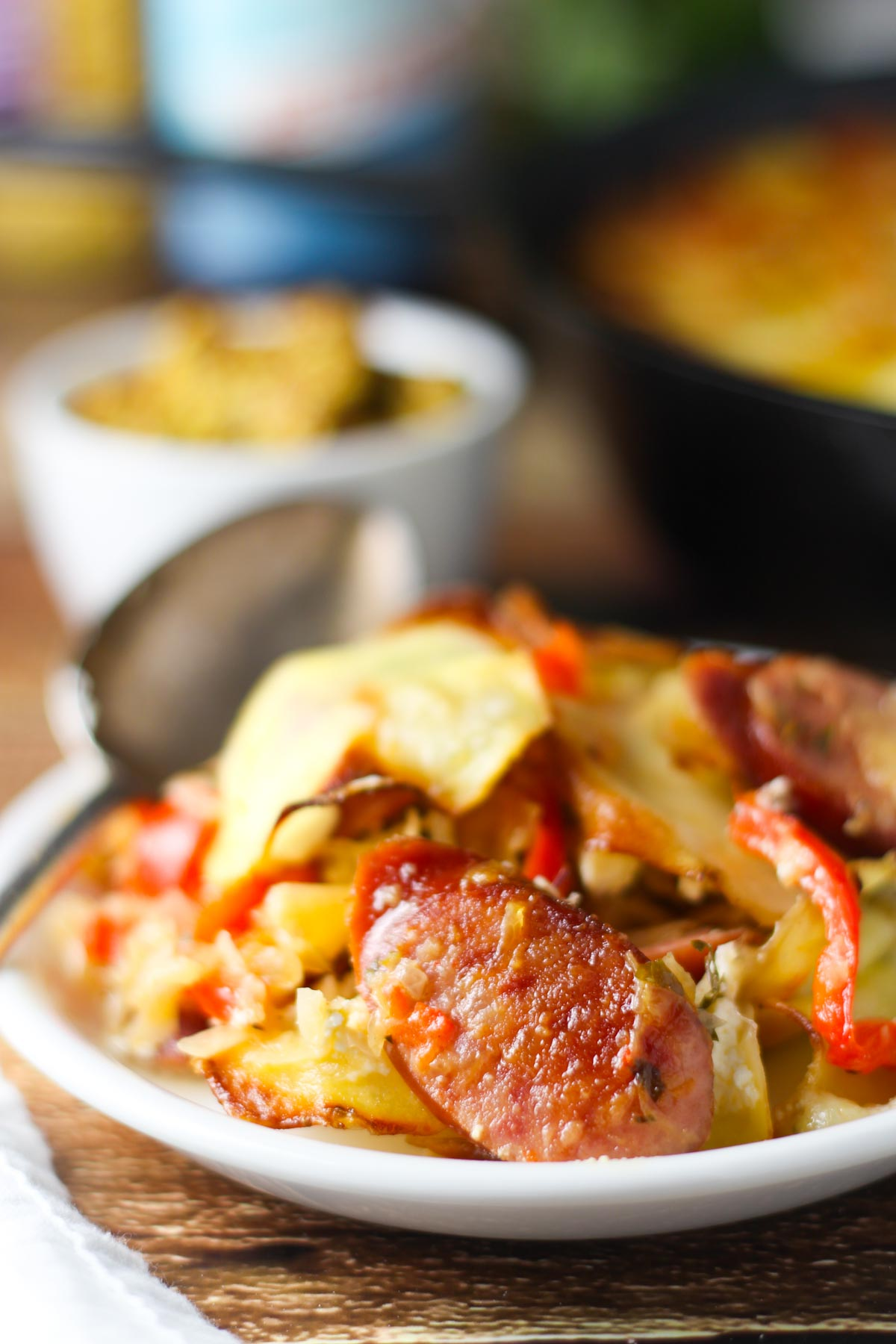 Sausage and sauerkraut skillet bake platings pairings this sausage and sauerkraut skillet bake inspired by oktoberfest combines two favorites of polska forumfinder Choice Image