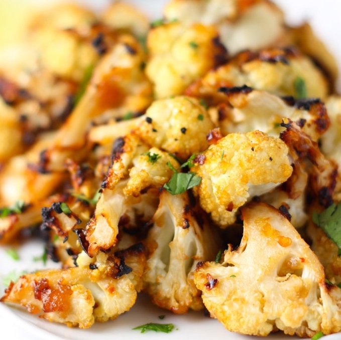 Miso Roasted Cauliflower | platingsandpairings.com