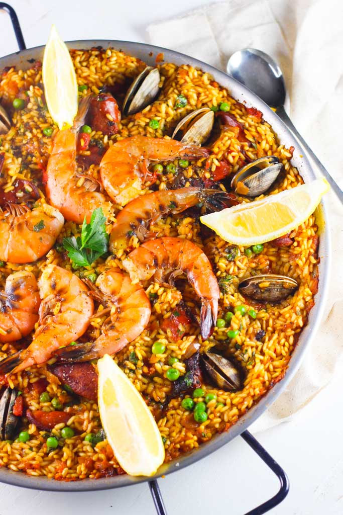 Seafood paella with saffron aioli platings pairings for Canape plate definition