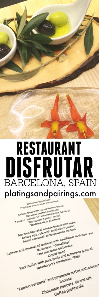 Disfrutar - A Gastronomic Eating Experience in Barcelona, Spain | platingsandpairings.com