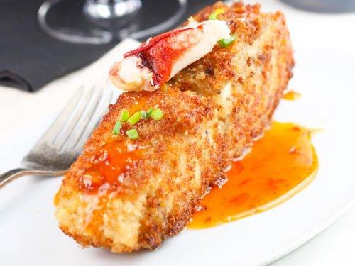 Crab Encrusted Halibut With Chili Cream Sauce Platings Pairings