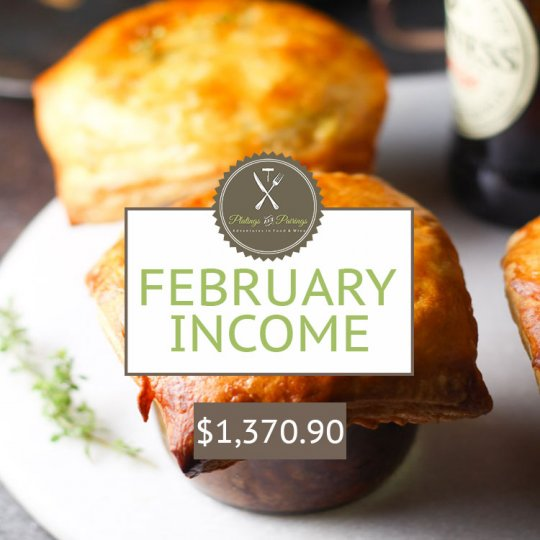 February 2016 Blogging Income Report | platingsandpairings.com