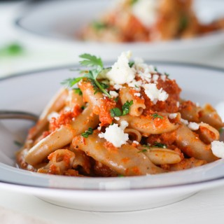 Pasta with Chipotle Cream Sauce #MeatlessMonday