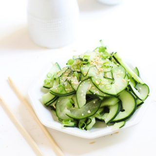 Cucumber Salad with Toasted Rice Powder