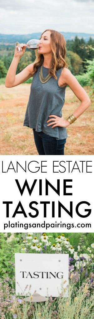 Lange Estate is located high in the Dundee Hills with an amazing view of Mount Hood on a clear day. It's one of my favorite spots to have a picnic and enjoy the views in wine country | platingsandpairings.com