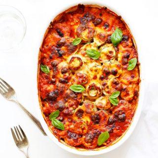 Vegetarian Zucchini Lasagna Roll-Ups