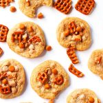 These Pretzel & Butterscotch Chip Cookies are sweet, salty, crunchy and amazingly delicious! Give your everyday cookies an exciting twist with this fun recipe. | platingsandpairings.com