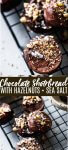 Chocolate Shortbread Cookies with Hazelnuts & Sea Salt have an intense chocolate flavor, without being overly sweet. // best // recipes // simple // dark // salted // easy