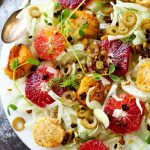 These Seared Scallops with Fennel & Blood Orange make a perfect light dinner that's as beautiful as it is delicious. | platingsandpairings.com