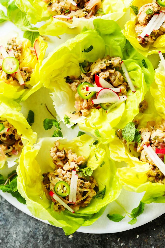 Larb Gai Thai Lettuce Wraps | Platings & Pairings
