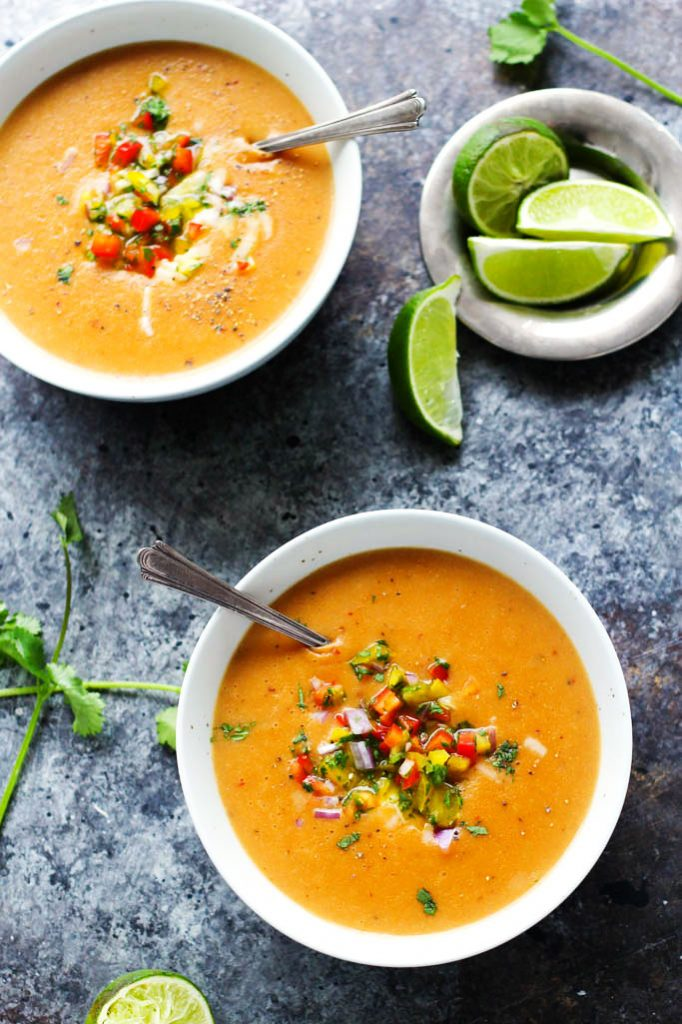 This Smoky Chipotle Potato Soup with Cheddar Cheese is the perfect recipe to warm you up on chilly days. It's thick & creamy with just a hint of spicy heat.   platingsandpairings.com