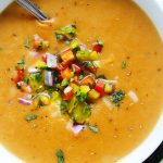 Smoky Chipotle Potato Soup with Cheddar