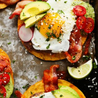 Bacon Breakfast Tostadas