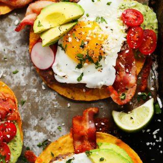 Bacon Breakfast Tostadas