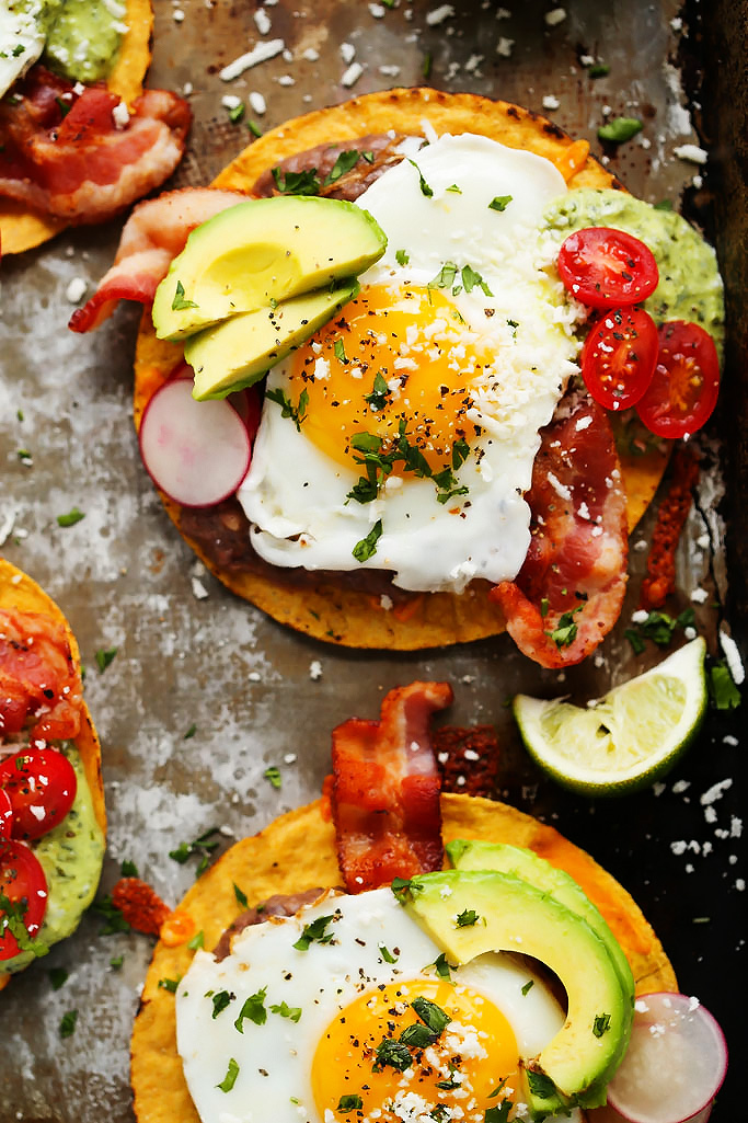 Mexican Breakfast Tostadas