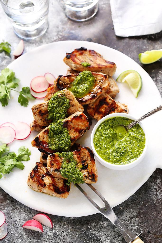 Grilled Mojo Pork Tenderloin Recipe Platings Pairings