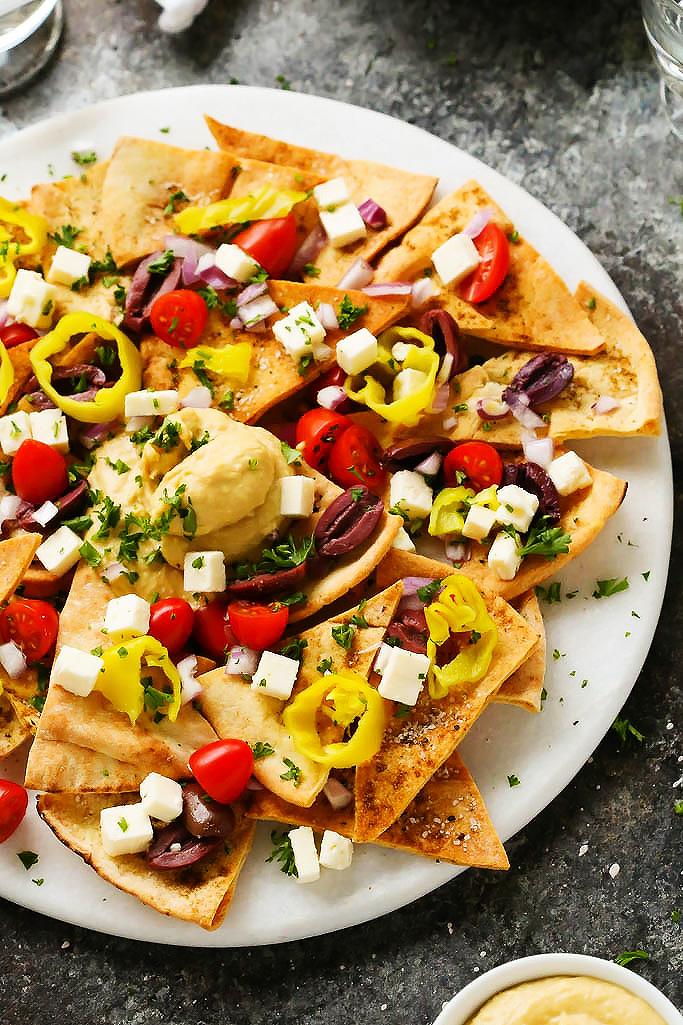 Mediterranean Nachos - Mediterranean Diet Recipe
