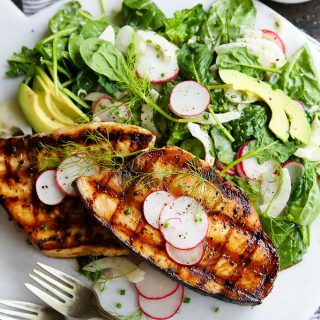 Grilled Swordfish with Tangy Rosé Wine Mayonnaise