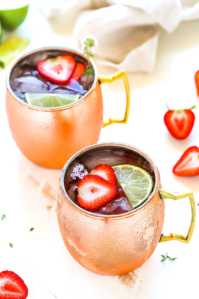 Strawberry Moscow Mule Cocktail Platings Pairings