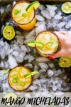 This Mango Michelada is a Mexican beer cocktail that's sweet and spicy and perfect for summer sipping! // michelada // summer cocktail