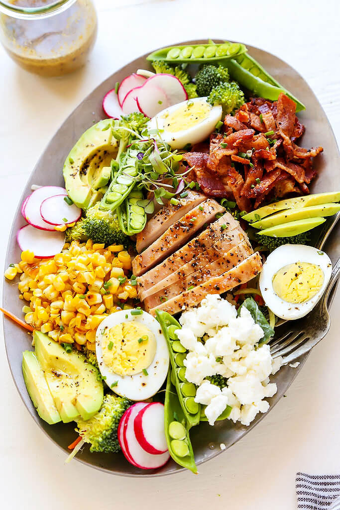 summer chicken cobb salad platings pairings