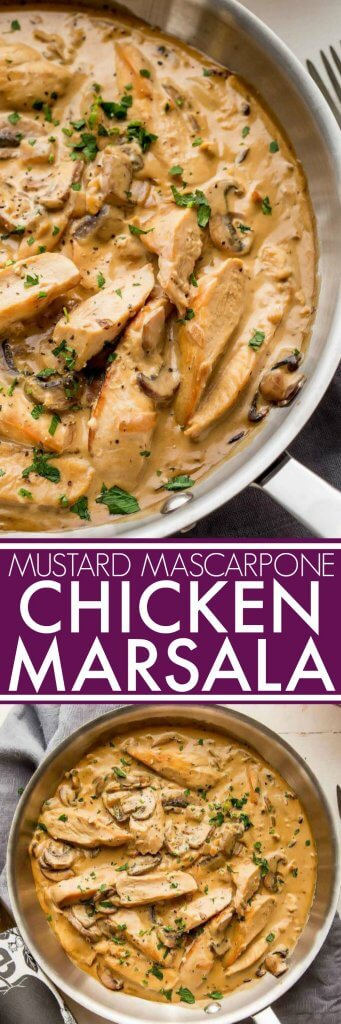 Chicken Marsala With Mustard Mascarpone Platings Pairings
