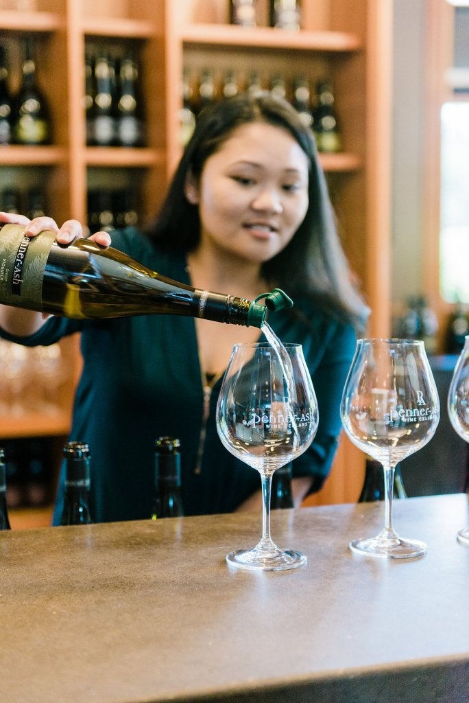 The Penner Ash Tasting Room in Newberg, Oregon is the place to go if you want to taste an amazing lineup of Oregon wines.