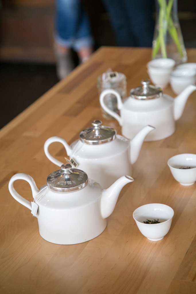 Tea Kettles lined up